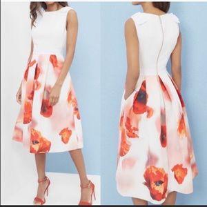 NEW Ted Baker MICLA Playful Poppy Dress. Size 0(2)